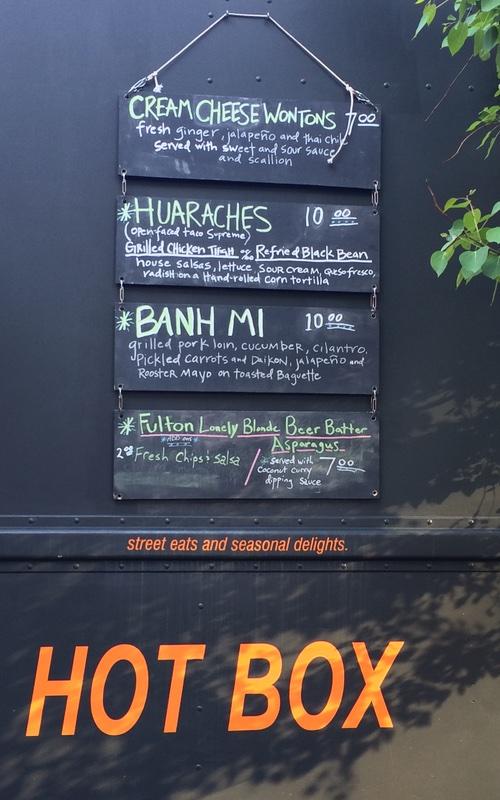 Peeps Hot Box Food Truck Menu