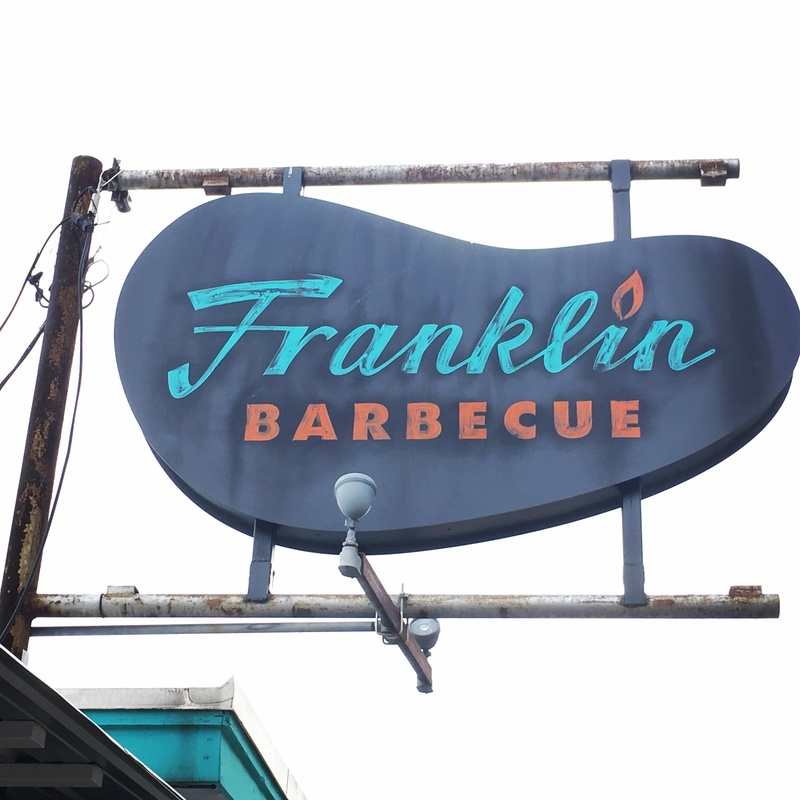 Franklin's Barbecue Sign