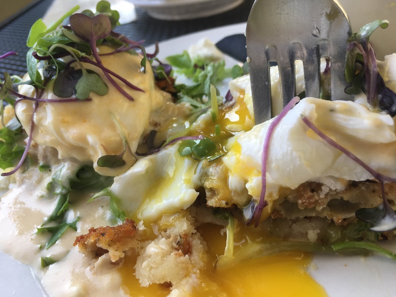 B Matthew's Eatery Fried Green Tomato Benedict